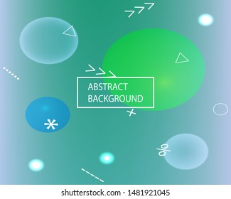 Gradient smooth mesh background. Vibrant backdrop with simple muffled colors. Vector illustration texture. Green eco template for your poster, banner or graphic design.