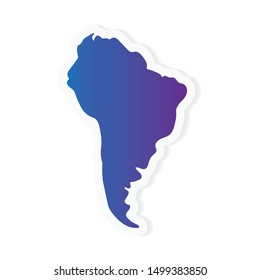 gradient South America map- vector illustration