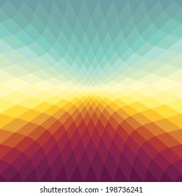 Gradient spectrum background with Sunset colors