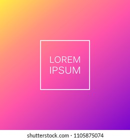 Gradient Stock Vector Illustration. Gradient colorful background in new social style
