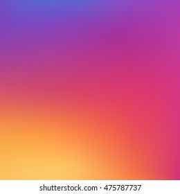 Gradient Stock Vector Illustration. Gradient colorful background in new social style inspired by instagram new logo