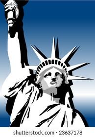 gradient USA liberty background