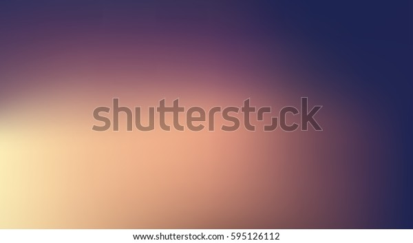 Gradient Vector Illustration wit sunrise sunset colors. Yellow, purple, orange, peach fade. Abstract sky background in horizontal format.
