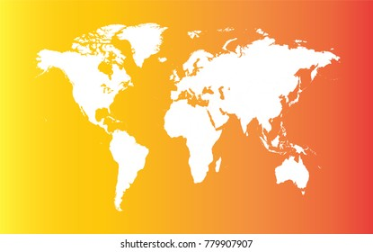 Skin world map color infographic dark vector de stock439119916 gradient world map white color hot summer gumiabroncs Choice Image
