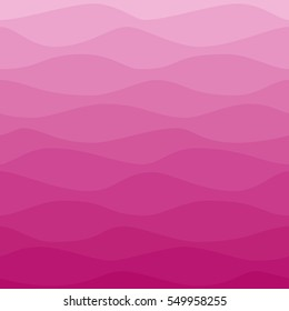 Gradual wavy pink background. Ombre color waves. Graphic design element for web sites, stationary printables, fabric, scrapbooking, wedding or baby shower invitations, room wallpaper, birthday card.