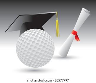 graduate golf ball