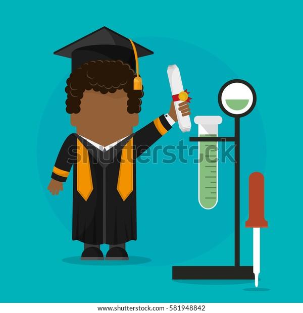 graduate student certificate with testt tube science school