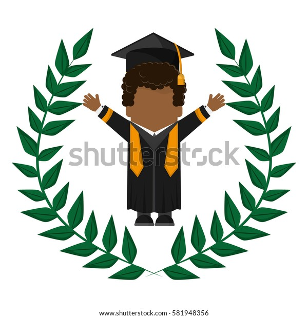 graduate student gown hat funny emblem