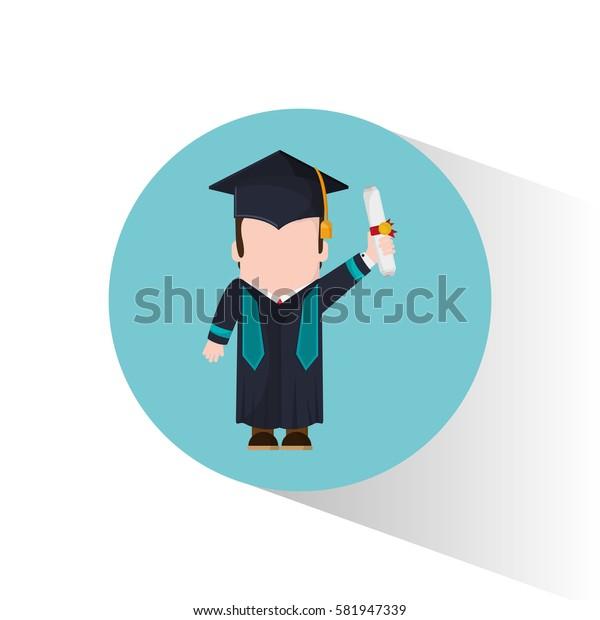 graduate student holding certificate