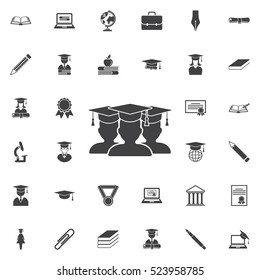 Graduate student Icon. Education set of icons