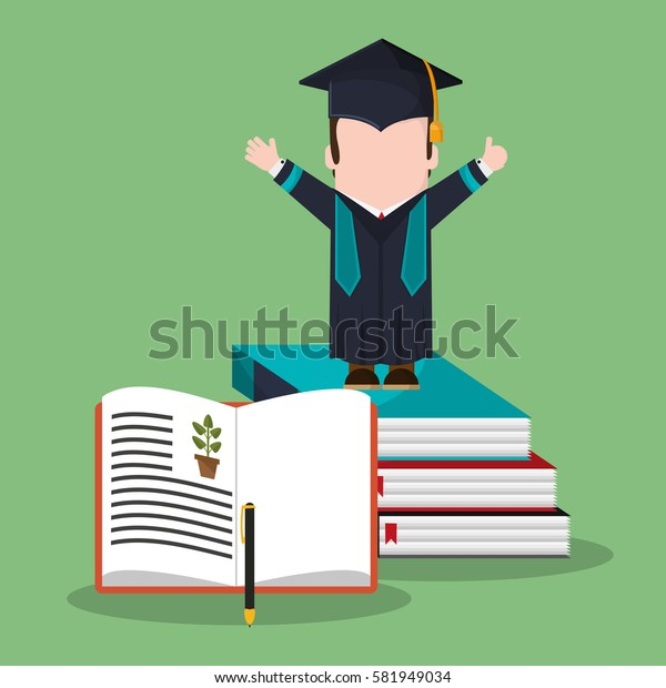 graduate student stack book biology