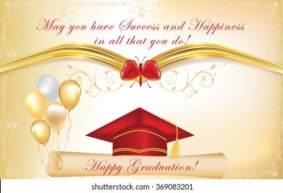 french graduation greeting card congratulations on stock