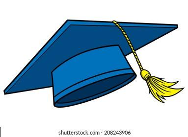graduation cap cartoon images stock photos vectors shutterstock rh shutterstock com cartoon graduation cap ideas cartoon graduation cap png