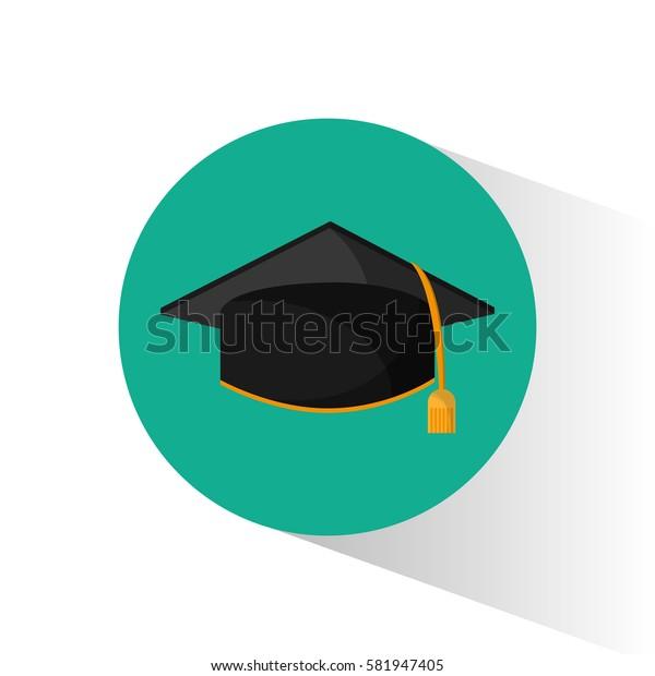 graduation cap education shadow