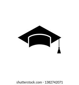 graduation cap icon design template