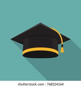 Graduation cap icon. Education icon for web and graphic design
