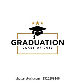 Graduation cap icon related to graduation celebrating logo. Vector eps 10