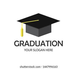 Graduation Cap Logo Template Design Elements