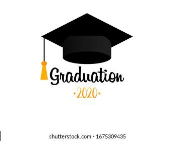 Graduation cap. Template Design Elements. Graduation Logo. Vector