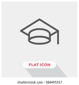 Graduation cap vector icon, education symbol. Modern, simple flat vector illustration for web site or mobile app