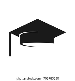graduation cap vector logo.