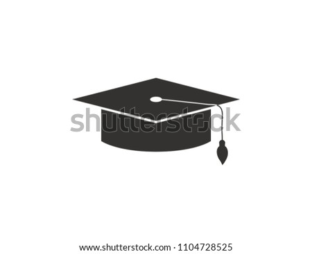 a0e4c640791 Graduation Cap Web Icon On White Stock Vector (Royalty Free ...