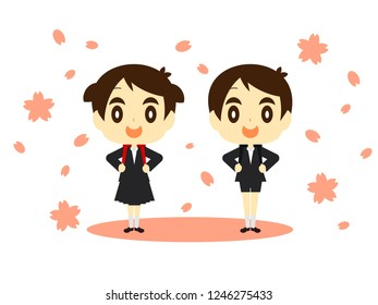 Graduation ceremony · entrance ceremony of elementary school in Japan