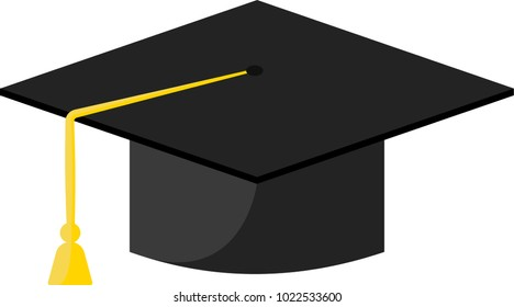 Graduation hat colorful icon