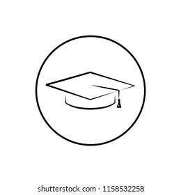graduation hat icon design template