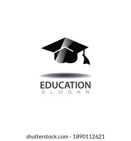 Graduation hat logo image university concept template design icon