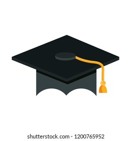 graduation hat school on white background