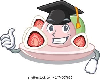 Graduation ichigo daifuku with the cartoon shape