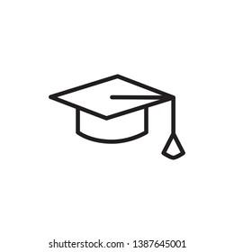 graduation icon vector design, outline style, for ui design