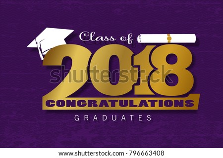 graduation label vector text graduation design stock vector royalty