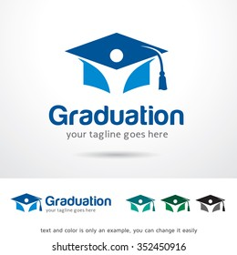 Graduation Logo Template Design Vector