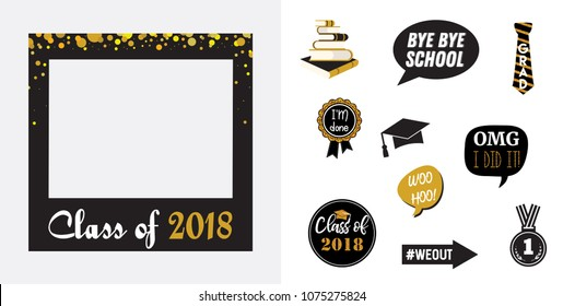 photo relating to Printable Graduation Photo Booth Props called Vectores, imágenes y arte vectorial de inventory sobre Photograph