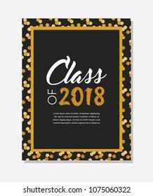 Graduation party vector template invitation to the traditional ceremony, college, university or high school student party. invitation , poster or banner template. vector illustration