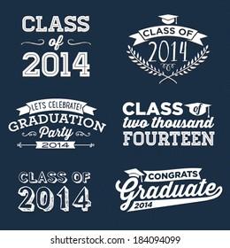 Graduation Vector Set | Let's Celebrate, Class of 2014, Congrats Grad, College Graduation, High School Graduation, Congratulations Graduate