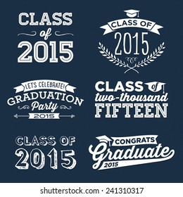 Graduation Vector Set | Let's Celebrate, Class of 2015, Congrats Grad, College Graduation, High School Graduation, Congratulations Graduate