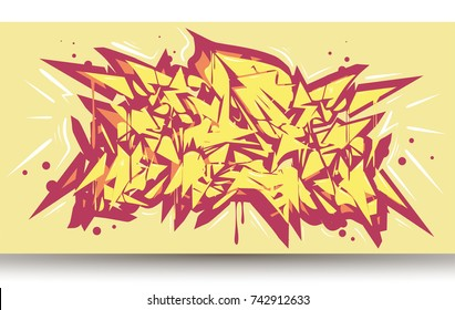 Graffiti abstract background wildstyle,vector. Typography for poster,t-shirt or stickers. Text background