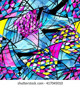 Graffiti abstract color seamless background