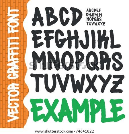 Graffiti Alphabet Full Abc Az Street Stock Vector Royalty Free