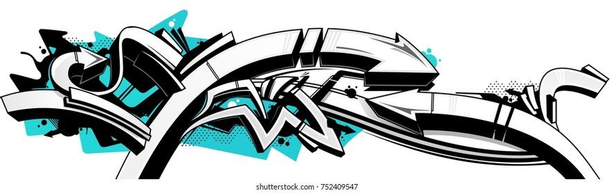 graffiti with arrows