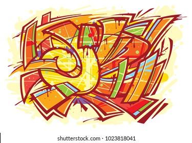 Graffiti art mural