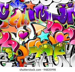 Graffiti Background Urban Art. Seamless texture