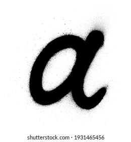 graffiti classic a font sprayed in black over white
