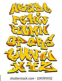 Graffiti Font Alphabet Urban Art Design