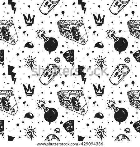graffiti graphic spray can cartoon doodle stock vector royalty free