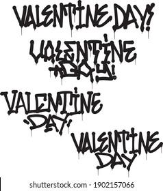 graffiti greetings with saint valentine