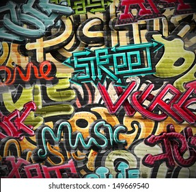 Graffiti grunge texture. Eps 10